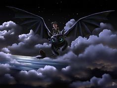 To the stars ... How to train your dragon, toothless, hiccup, night fury, dragon, viking