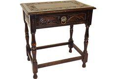 19th-C. English Carved Oak Side Table on OneKingsLane.com