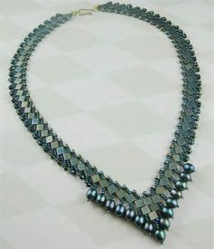 tila beads with pearls and seed bead
