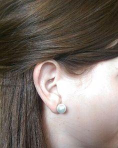Classic Pearl Stud Earrings   Chloe + Isabel