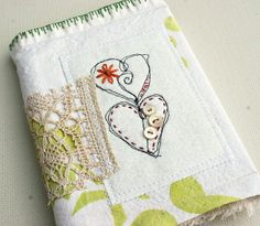 .journal cover...fabric collage