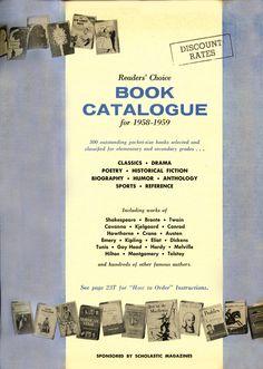 Scholastic Book Club flyer - 1958