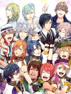 Uta no☆prince-sama♪ this is not a good anime but the dudes look fine
