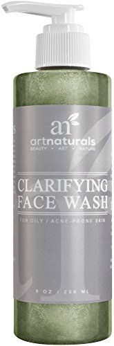 Art Naturals Clarifying Acne Face Wash 8oz- Deep Cleansing & Exfoliation of Acne, Blackheads and Pimples Infused With Cucumber & Aloe for Added Hydration. For all Skin Types for Men & Women.