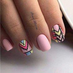 Pin by Magda Calderón on uñas in 2019 Chic Nails, Stylish Nails, Love Nails, Fun Nails, Pretty Nails, Nail Art Designs, Tribal Nails, Sparkly Nails, Manicure And Pedicure