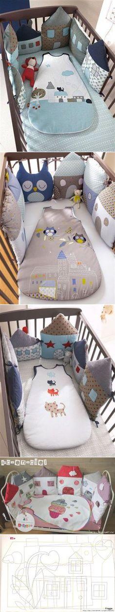 Идея для наших мастериц. Подушки-игрушки для детской кроватки   Наш дом