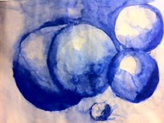 Room 9: Art!: Unit Completed! Monochromatic Watercolor Spheres