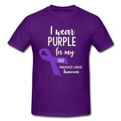 Pancreatic Cancer Awareness Baby T-Shirt inktastic I Wear Purple for My Dad