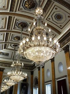 Lovely lights in the ballroom at the Liverpool town hall.