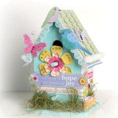 altered birdhouses | ... Video & Tutorial: Altered Spring Birdhouse (Elizabeth Park from LYB