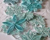 Paper quilling snowflakes / Paper ornaments / Winter wedding decorations