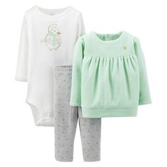 Just One You™Made by Carter's® Newborn Girls' Penguin 3 Piece Set - Ice Green
