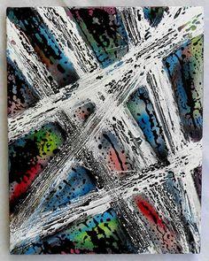 """G.A.Zanussi, """"tabula rasa # 000"""". Arte contemporanea quadro 45 x 35, opera a tecnica mista su tela, 2017"""