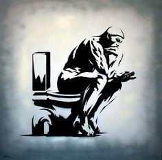 """""""The Stinker"""" (canvas) de l'artiste Chilien Otto Shade  Graffiti stencil on canvas 100 x 100 cm 2013"""
