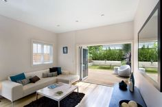 Constitution Rd, Dulwich Hill. Light and bright with accents of azure and pistachio.