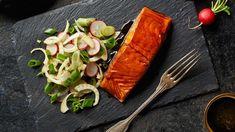 Losos Teriyaki s lehkým zeleninovým salátem Lidl, Ale, Dairy, Cheese, Meat, Cooking, Tableware, Kitchen, America