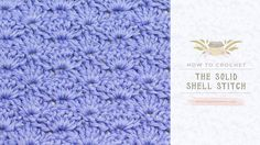 How To: Crochet The Solid Shell Stitch | Easy Tutorial by Hopeful Honey