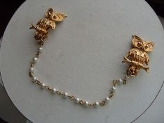 Glee character Emma Pillsbury has the coolest accessories. Owl sweater clip.
