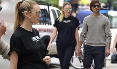 Pregnant Candice Swanepoel dresses her baby bump in black