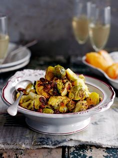 Sicilian roasted cauliflower & brussels sprouts.