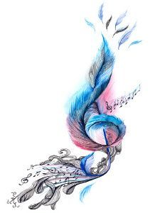 Treble clef tattoo with birds coming off the top?? Something different