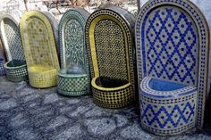 Mosaic Fountain by Badia Design mosaic wall fountains<br> Large selection of mosaic fountain at Badia Design. Here are some of the example of our beautiful fountains, we do custom order for your need! Outdoor Wall Fountains, Indoor Water Fountains, Indoor Fountain, Garden Fountains, Outdoor Walls, Garden Ponds, Koi Ponds, Dog Water Fountain, Diy Fountain