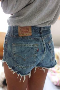 High wasted Levi's shorts by PlasticDaisys on Etsy, $30.00