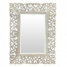 Espejo Decorativo Antiguo Blanco Evreux 128 cm