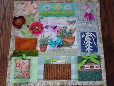 Garden Girl- Fidget Quilt- Tactile - Bright & Colorful- Fun for Alzhiemer Patients