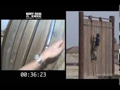 US Navy SEAL Obstacle Course run! WOW think you can beat this time???