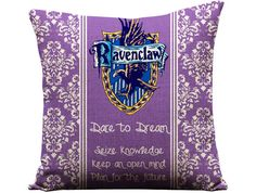 Harry Potter Ravenclaw House Hogwarts Crest J.K. Rowling Book Movie Entertainment Memorabilia New Sofa Throw Pillow Case Cushion Cover Set on Etsy, $29.00