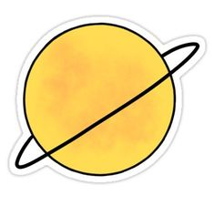 """'Yellow Saturn Planet Space' Sticker by megangilleyxo - Meret Dölschner - 'Yellow Saturn Planet Space' Sticker by megangilleyxo """"Yellow Saturn Planet Space"""" Stickers by megangilleyxo Meme Stickers, Tumblr Stickers, Cool Stickers, Printable Stickers, Preppy Stickers, Macbook Stickers, Phone Stickers, Mirror Stickers, Red Bubble Stickers"""