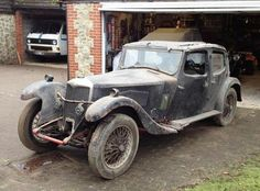 1933 Riley Kestrel Sports Saloon, Chassis no. 317 Engine no. Old Vintage Cars, Old Cars, Antique Cars, Panel Truck, Rusty Cars, British Sports Cars, Old Classic Cars, Automobile, Abandoned Cars