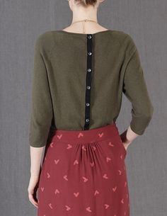 Everyday Button Back Sweater from Boden ($78)