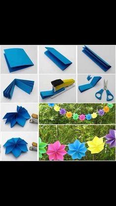 Papir blomster til guirlande