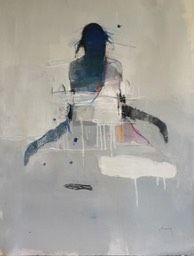 Harry Paul Ally-Figure with Dress and 5 Blue Dots Figure Painting, Figure Drawing, Drawing S, Dress Painting, Collages, Portrait Art, Figurative Art, Art Studios, Modern Art