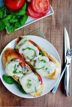 Chicken Caprese sandwich...I LOVE sandwiches!--we made these the other night and they were AMAZING! Pretty quick to make and shockingly filling for a sandwich. Will absolutely make again.