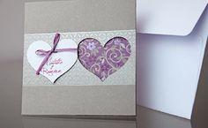 Colección invitaciones boda, diseño actual y muy bonitas en tonos gris y lila #invitaciones #boda #bodas #wedding #invitations #FDeI #lowcost #fiestadetalleseinvitaciones