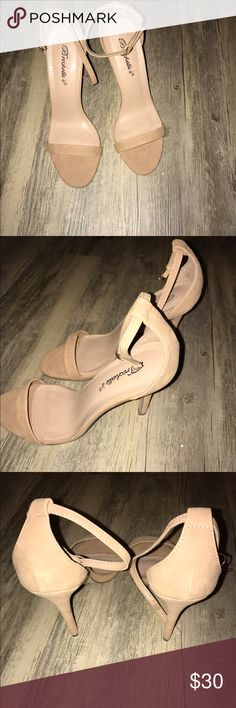 "NWT:Breckell's Nude Ankle Strap Heels Lovely Shoes Gorgeous NWOT/ Breckell's Nude Ankle Strap Heel. SZ:7.5...4"" inch heel height. Super Chic & Sexy!!! No Trades!! MAKE AN OFFER‼️‼️‼️ NO BOX‼️ BRAND NEW‼️‼️ NEVER WORN IN ""ANY"" WAY‼️ AS IS‼️‼️ Breckelles Shoes Sandals"