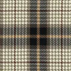 Use this old fashioned cotton upholstery fabric by Roth and Thompkins in gray, brown, and black mixture of plaid/check/houndstooth to bring your upholstered piece to life.v205ARET