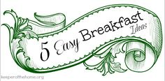 By Rachel, Contributing Writer If you are like me, weekday mornings are very busy. You're getting the backpacks packed, the curriculum prepared onhomeschoolingdays, the water bottles filled and lunch boxes ready to go… and the very thought of breakfast puts me even more behind. So I love the thought of easy breakfasts. Who doesn't??... Read More