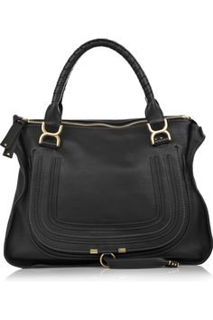 CHLOÉ Marcie Large leather bag in black