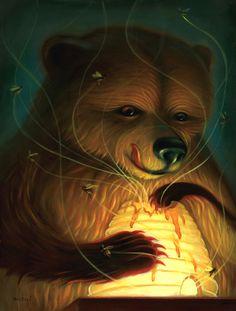 """Honey Bear by Chris Buzelli  One of the many nicknames for my boys...my """"honey bears"""""""