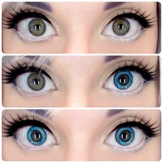 Cosplay anime coloured contacts - great for anime cons. FREE Shipping Worldwide! SHOP >> http://www.eyecandys.com/cosplay-halloween-contact-lenses/