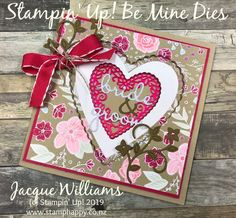 NewAll My Love Window Card & Tutorial Available Wedding Anniversary Cards, Wedding Cards, Envelope Punch Board, Window Cards, Card Tutorials, Stampin Up, Card Stock, Paper Crafts, Gift Wrapping