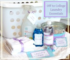Laundry Essentials!! Really cute gift idea for the student going off to college or someone's first apartment or new home.