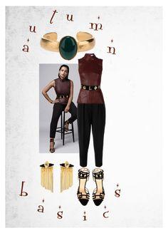 Autumn basics by myenglishmood on Polyvore featuring moda, Fendi, Thierry Mugler, Charlotte Olympia, Chanel, Iosselliani and Christian Lacroix