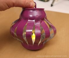chinese lanterns from soda cans, crafts, outdoor living, repurposing upcycling