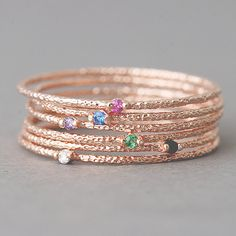 Hey, I found this really awesome Etsy listing at https://www.etsy.com/listing/219146522/6-color-stone-textured-thin-stackable