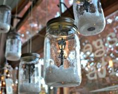 Snow Globes in a Jar   60 Cute and Easy DIY Gifts in a Jar   Christmas Gift Ideas